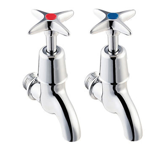 Twyford Sola Cross Head Bib Taps - SF2302CP
