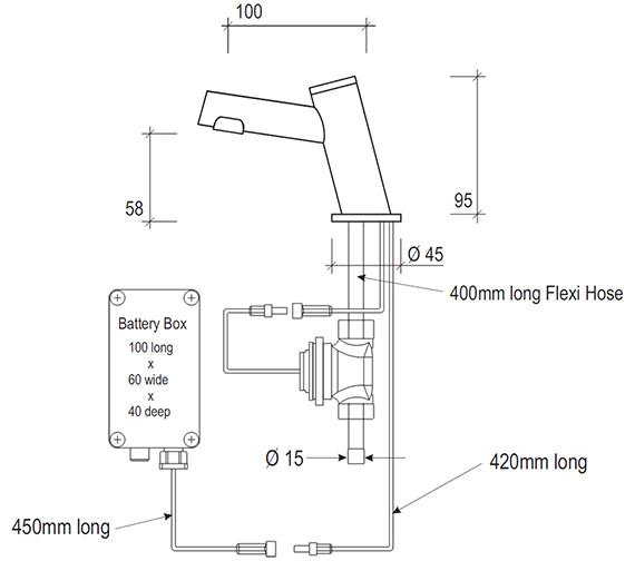 Technical drawing QS-V48269 / SF2105CP