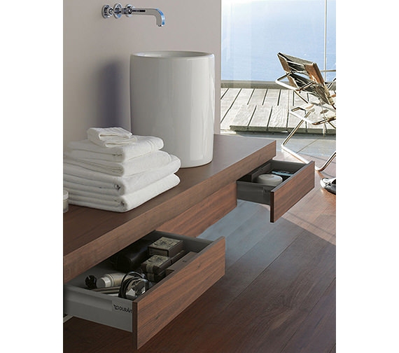 Duravit Fogo Console Including Drawer 360 x 1800mm Macassar FO8388 Image