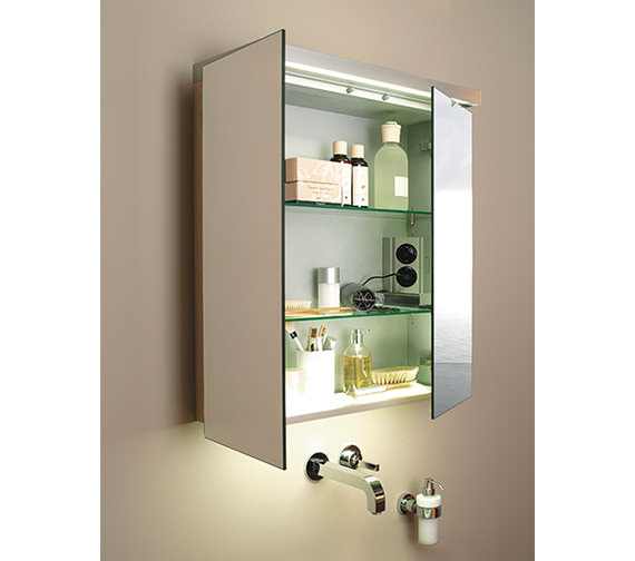 Duravit Fogo 1000mm 2 Door Mirror Cabinet - FO967601818