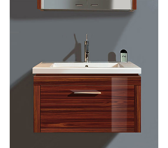 duravit 2nd floor rosewood 580mm wall hung vanity with 800mm basin. Black Bedroom Furniture Sets. Home Design Ideas