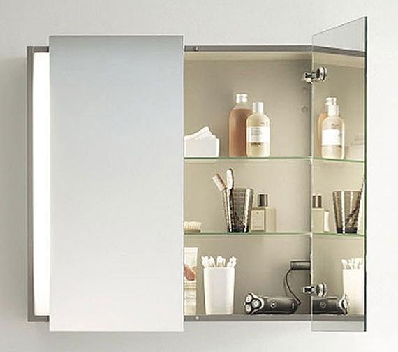 Duravit Ketho 750mm High Double Door Mirror Cabinet