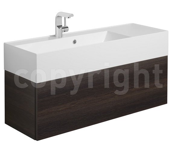Bauhaus Elite Panga Slim Line Single Drawer Vanity Basin Unit 1000mm