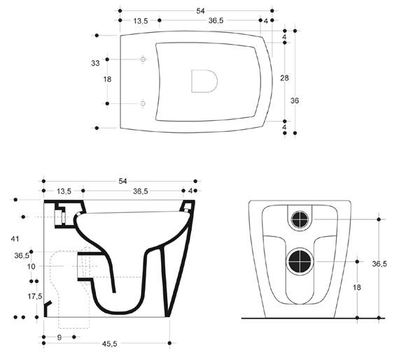 Technical drawing QS-V49156 / ED6007CW