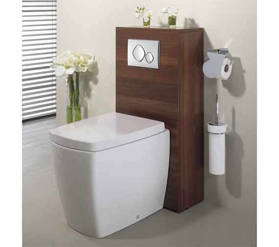 Additional image of Bauhaus Touch Back To Wall WC Pan With Soft Close Seat- ED6007CW