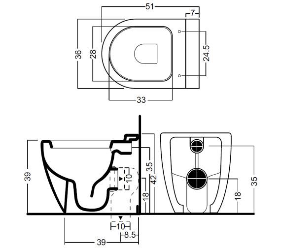Technical drawing QS-V49168 / RG6007CW