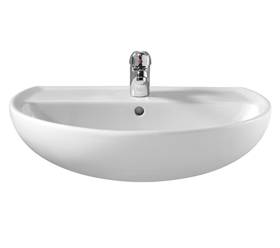 Twyford Alcona Bathroom Sink 500mm - 1 Tap Hole