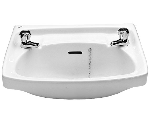Twyford Classic 560 x 415mm 2 Tap Hole Washbasin - CC4212WH