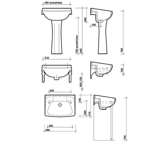 Technical drawing QS-V49209 / CC4212WH