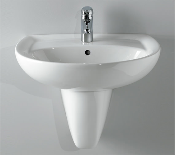 Additional image of Twyford Galerie 1 Tap Hole Washbasin 650 x 510mm - GN4361WH
