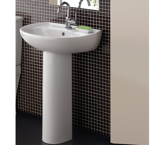 Alternate image of Twyford Galerie 1 Tap Hole Washbasin 650 x 510mm - GN4361WH
