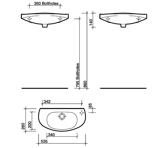 Technical drawing QS-V49236 / GP4051WH