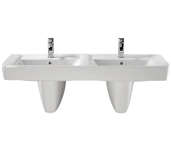 Twyford Galerie Plan Double Basin 1300 x 480mm - GL4361WH