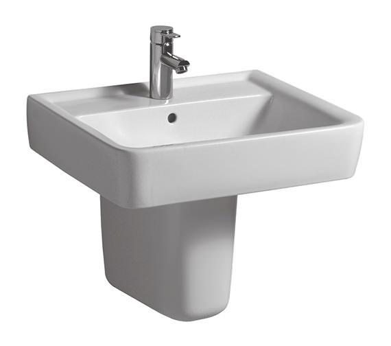 Twyford Galerie Plan Washbasin 650 x 480mm - GL4241WH