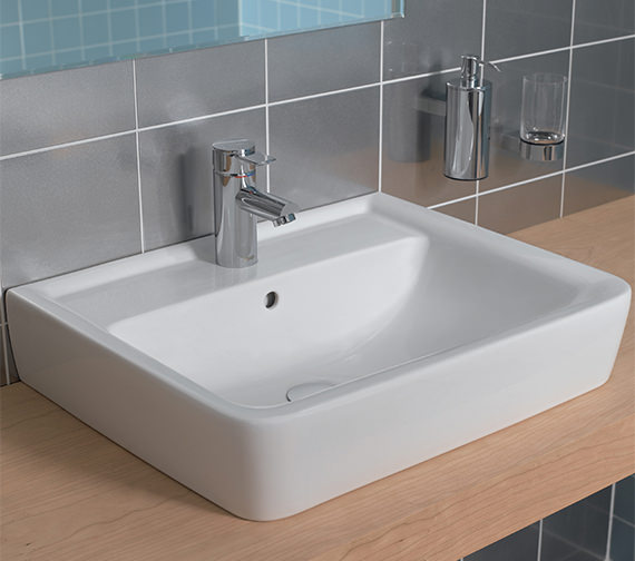Additional image of Twyford Galerie Plan Washbasin 600 x 480mm - GL4211WH