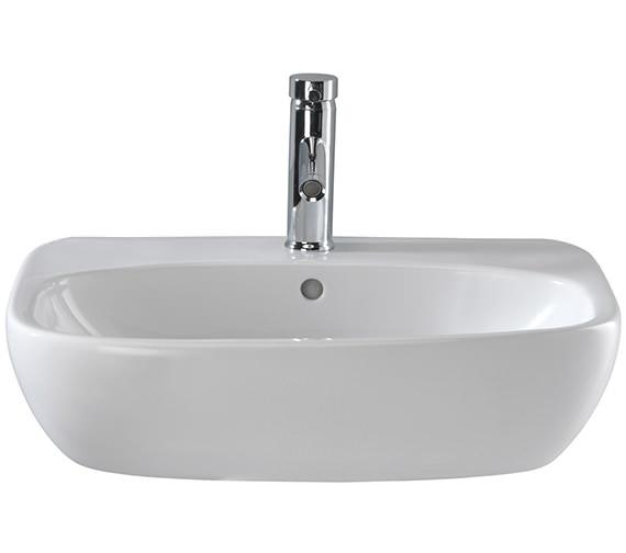 Twyford Moda 600mm Wide 1 Tap Hole Washbasin