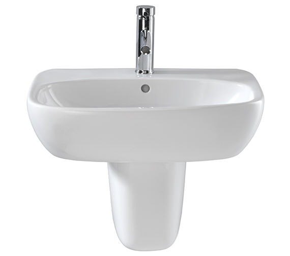 Additional image of Twyford Moda 600mm Wide 1 Tap Hole Washbasin
