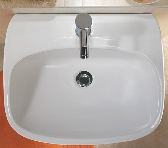 Additional image of Twyford Moda Contemporary Washbasin With 1 Tap Hole In The Center