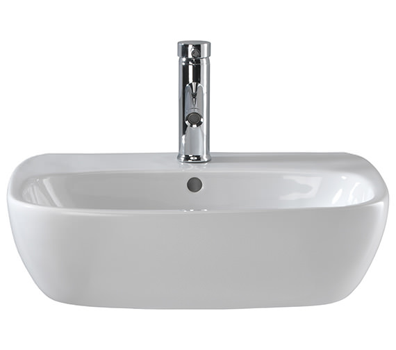 Twyford Moda 1 Centre Tap Hole Washbasin 550 x 450mm - MD4231WH