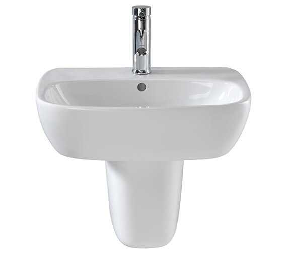 Additional image of Twyford Moda 1 Centre Tap Hole Washbasin 550 x 450mm - MD4231WH