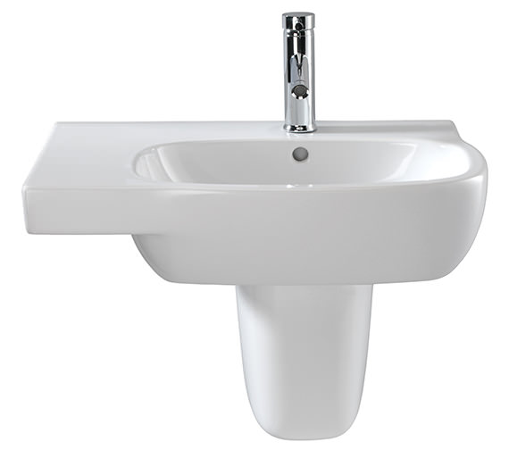 Twyford Moda Washbasin With Left Hand Shelf Space 650 x 460mm Image