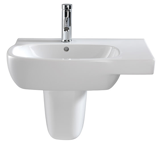 Image 3 of Twyford Moda Washbasin With Left Hand Shelf Space 650 x 460mm