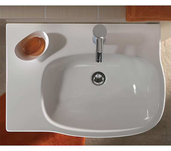 Additional image of Twyford Moda Washbasin With Left Hand Shelf Space 650 x 460mm