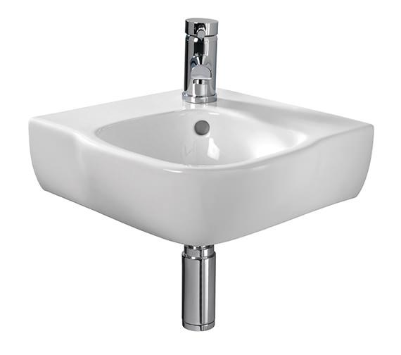 Twyford Moda Corner Washbasin 500 x 485mm - MD4191WH