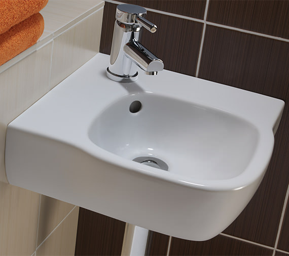 Corner Washbasins : ... image of Twyford Moda Corner Washbasin 500 x 485mm - MD4191WH