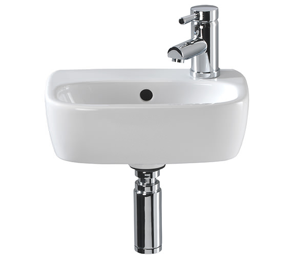 Twyford Moda Handrinse Washbasin 360 x 260mm - MD4821WH