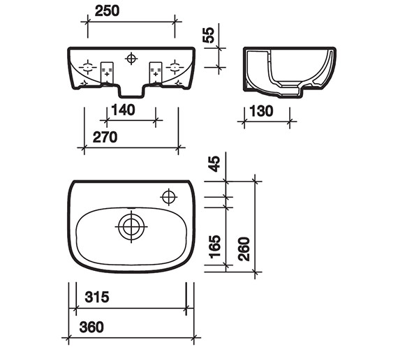 Technical drawing QS-V49261 / MD4821WH
