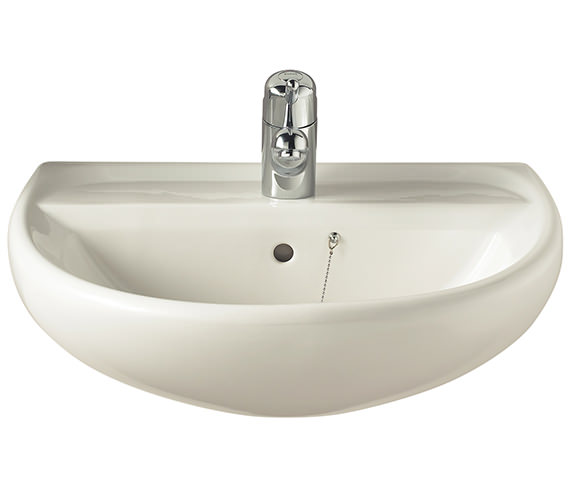 Additional image of Twyford Sola 500mm 1 Tap Hole Washbasin