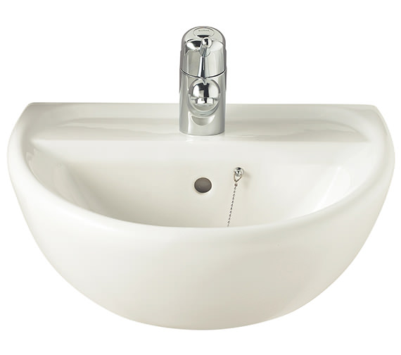 Twyford Sola 500mm 1 Tap Hole Washbasin