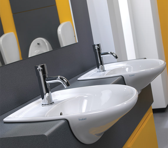 Alternate image of Twyford Galerie 1 Tap Hole Semi Recessed Basin 500 x 425mm