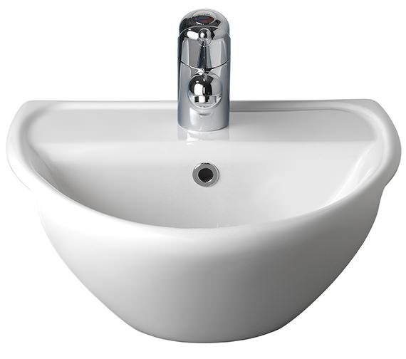 Twyford Sola Optimise Semi-Recessed Basin 450 x 380mm - SA4621WH