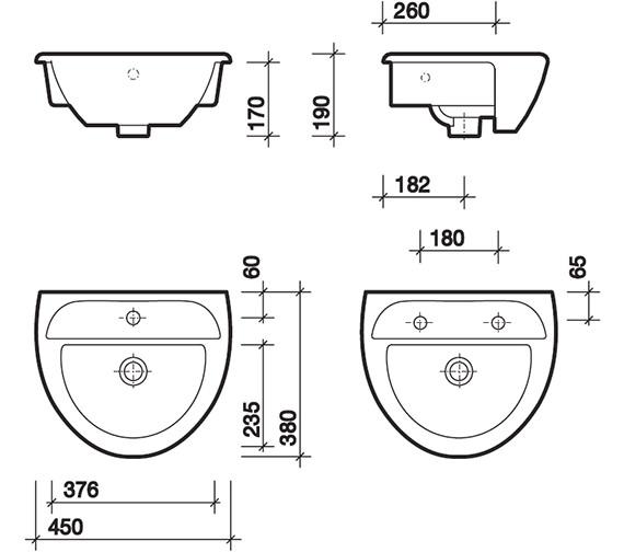 Technical drawing QS-V49328 / SA4621WH