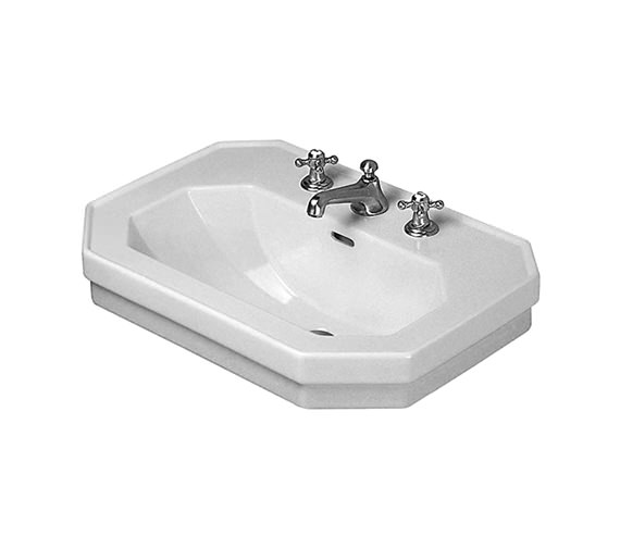 duravit 1930 series 3 tap hole washbasin 700mm 0438700030. Black Bedroom Furniture Sets. Home Design Ideas