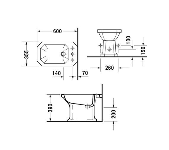 Technical drawing QS-V49365 / 0267100000