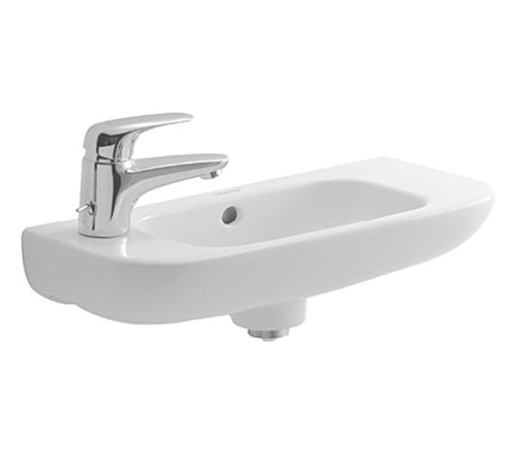 Duravit D-Code 500 x 220mm 1TH On Left Side Of Basin - 07065000092