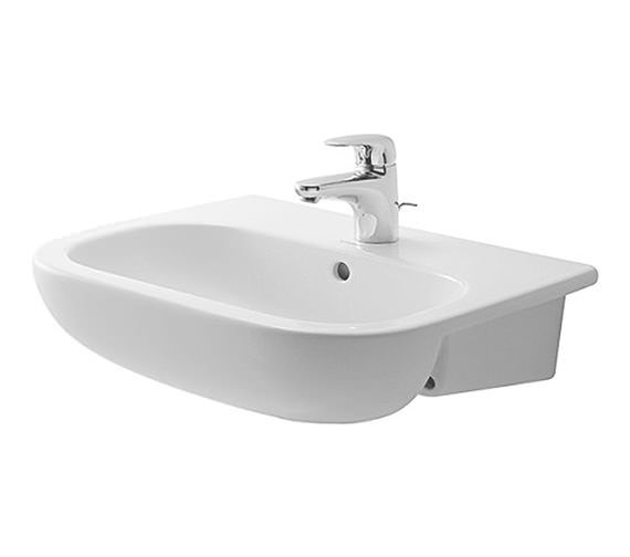 Duravit D-Code 550 x 440mm Semi Recessed Basin