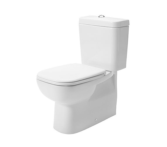 Duravit D-Code 355 x 650mm Close Coupled WC Pan With Cistern