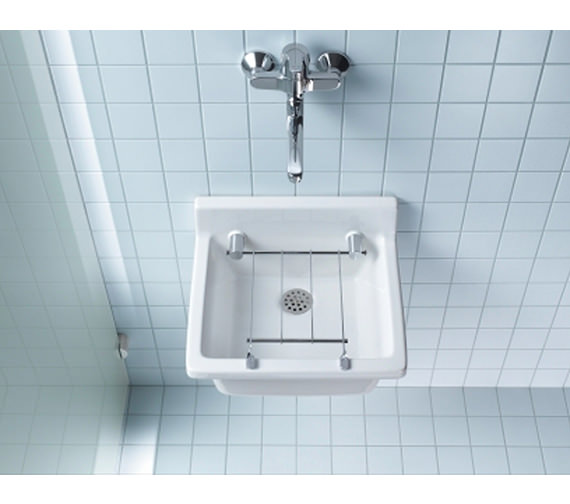 Duravit Starck 3 Utility Basin 480 x 425mm With Grid - 0313480000