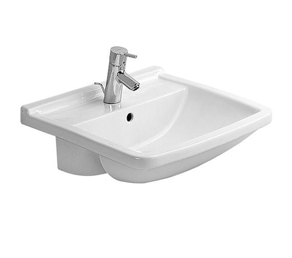 Duravit Starck 3 Semi Recessed Washbasin 550mm - 0310550000