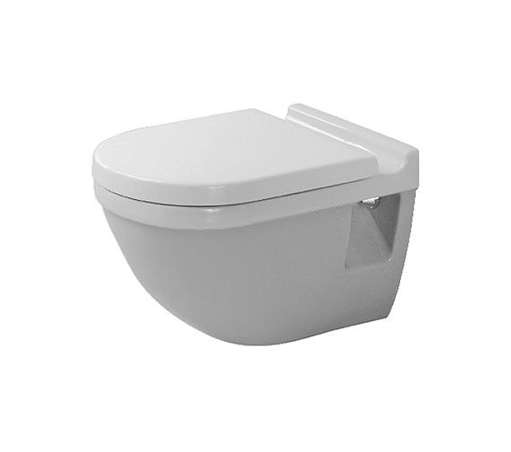 duravit starck 3 wall mounted toilet 2200090000. Black Bedroom Furniture Sets. Home Design Ideas