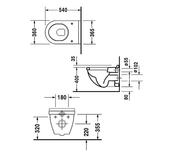 Technical drawing QS-V49585 / 2200090000