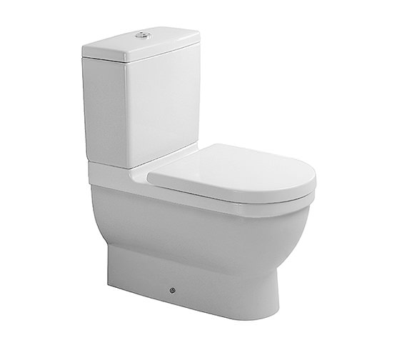 Starck 3 Close Coupled Toilet with Cistern Seat and Cover 655mm - 012809