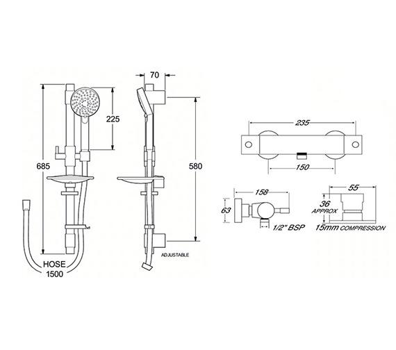 Technical drawing QS-V50040 / VSN2BMEF