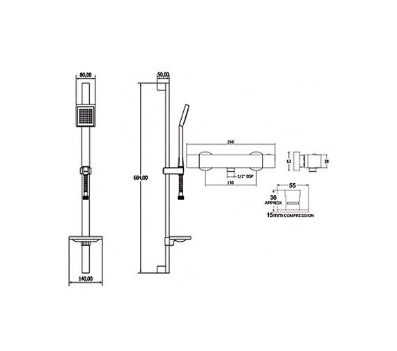 Technical drawing QS-V50066 / SAVBSEF