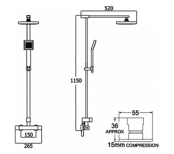 Technical drawing QS-V50067 / SAVBDEF