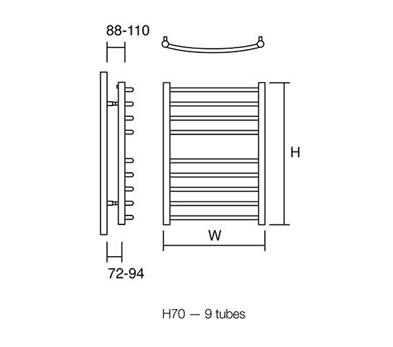 Technical drawing QS-V50132 / Zante 60/70